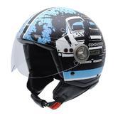 NZI Zeta Roadracer Open Face Motorcycle Helmet L (58cm) Black Blue