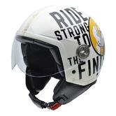 NZI Zeta Ride by Popeye Open Face Motorcycle Helmet L (58cm) White Yellow