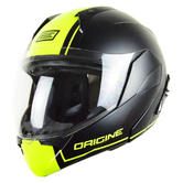Origine Helmets Riviera Dandy Flip-Up Motorcycle Helmet M Matt Black Yellow