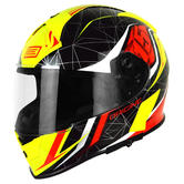 Origine Helmets GT Raider Full-Face Motorcycle Helmet XL Black Red Yellow