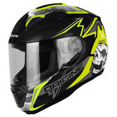 Origine Helmets ST Race Full-Face Motorcycle Helmet L Black Lime