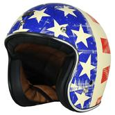 Origine Helmets Primo Old Glory Open-Face Motorcycle Helmet M Red White Blue