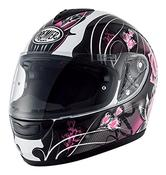 Premier Monza Vanity 9 BM Ladies Motorcycle Helmet XL Black White Pink