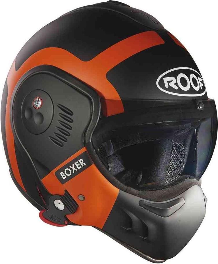 ROOF Boxer V8 Bond Flip Front Motorcycle Helmet XS Matt Orange