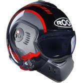 ROOF Boxer V8 LP20 Flip Front Motorcycle Helmet SM Black Red