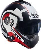 ROOF Boxer V8 Target Flip Front Motorcycle Helmet XS Matt White Red