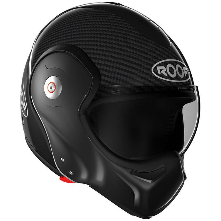 Roof Boxxer R09 Carbon Flip Front Motorcycle Helmet XL Black Metal
