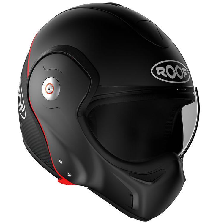 ROOF Boxxer R09 Carbon Flip Front Motorcycle Helmet XS Matt Black