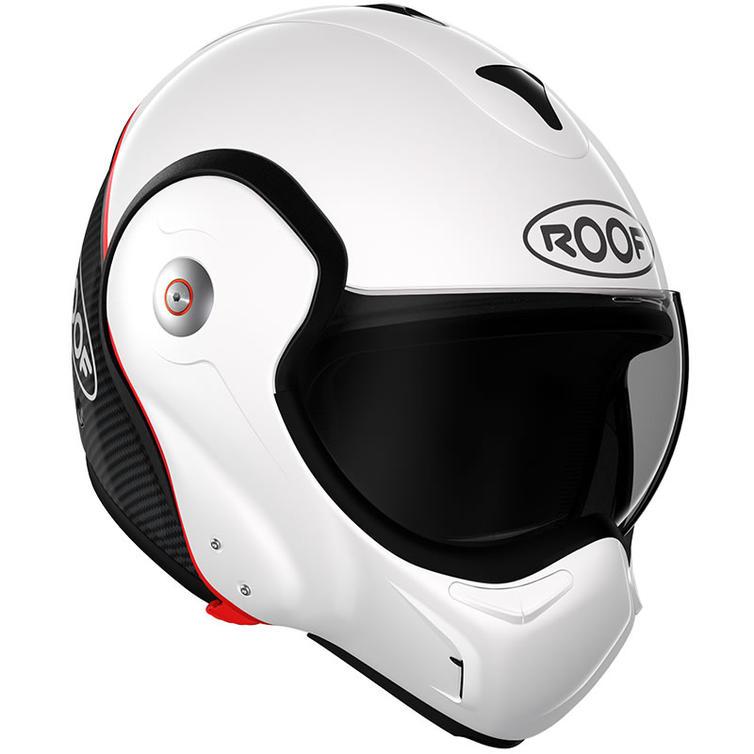 ROOF Boxxer R09 Carbon Flip Front Motorcycle Helmet SM White