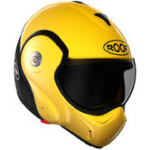 ROOF Boxxer R09 Carbon Flip Front Motorcycle Helmet M Yellow