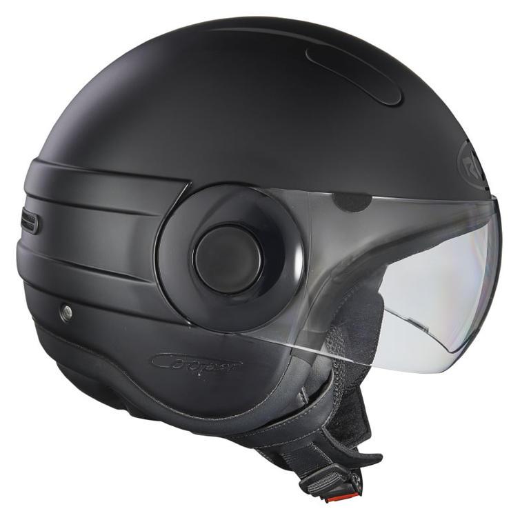 Roof Cooper RO35 Open Face Motorcycle Helmet SM Matt Black