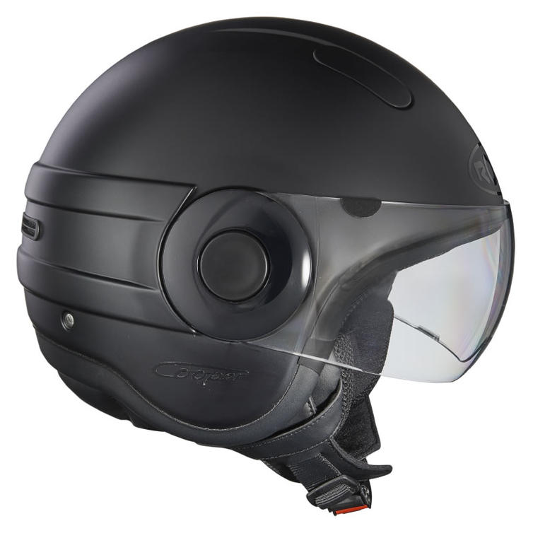 Roof Cooper RO35 Open Face Motorcycle Helmet XS Matt Black
