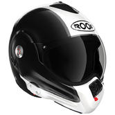 Roof Desmo RO32 Flip Front Motorcycle Helmet Flash 2XL Black White