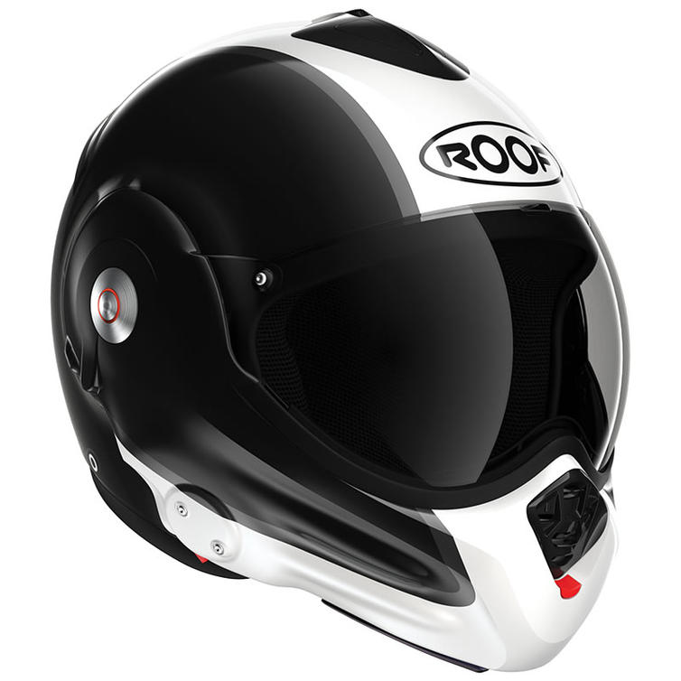 Roof Desmo RO32 Flip Front Motorcycle Helmet XS Flash Black White