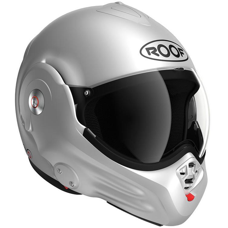 Roof Desmo RO32 Flip Front Motorcycle Helmet XL Matt Silver White
