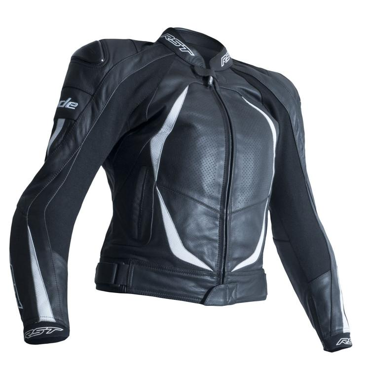 RST Ladies Blade II CE Leather Motorcycle Jacket UK 14 White