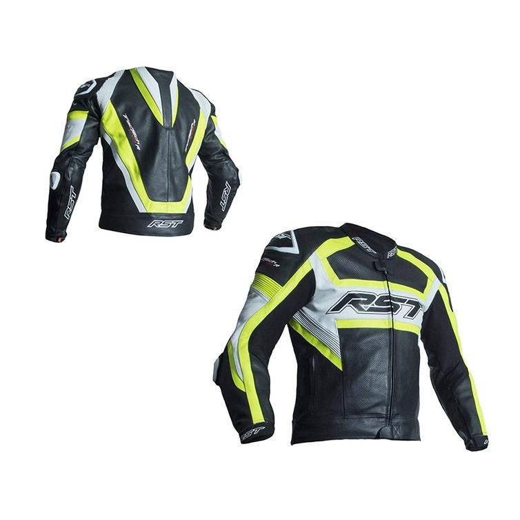 RST Trachtech Evo R Leather Motorcycle Jacket UK 46 Yellow