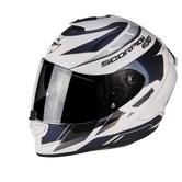 Scorpion Exo-1400 Air Cup Motorcycle Helmet M White Pearl Cameleon Blue