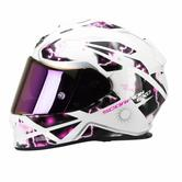 Scorpion Exo-510 Air Xena Ladies Motorcycle Helmet M White Pink