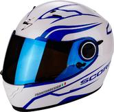 Scorpion Exo-490 Luz Motorcycle Helmet XS Pearl White Blue