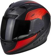 Scorpion Exo-710 Air Mugello Motorcycle Helmet XXL Black Red
