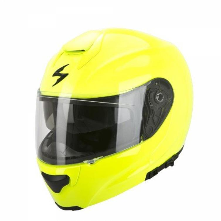 56bbc0ad Scorpion Exo-3000 Air Solid Flip Front Motorcycle Helmet XS Yellow - Flip  Up Front Helmets - Ghostbikes.com