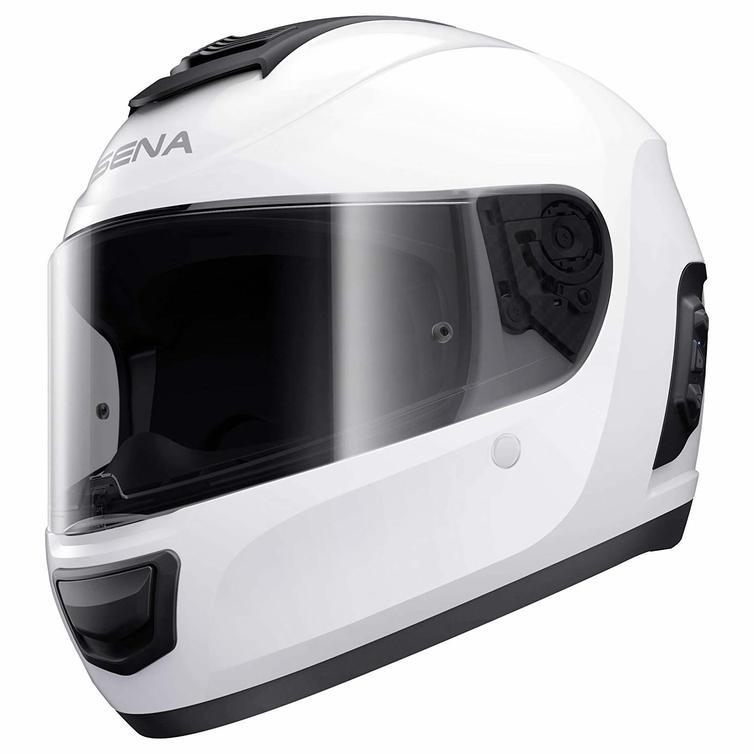 Sena Momentum Lite Bluetooth Full Face Motorcycle Helmet M Glossy White