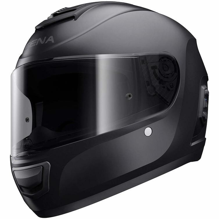 Sena Momentum Lite Bluetooth Full Face Motorcycle Helmet XS Matt Black
