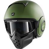 Shark Drak Blank Mat Open Face Motorcycle Helmet S Matt Green
