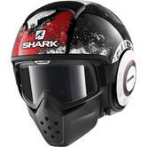 Shark Drak Evok Open Face Motorcycle Helmet M Black Red Anthracite