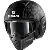 Shark Drak Sanctus Mat Open Face Motorcycle Helmet XL Matt Black Anthracite