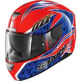 Shark D-Skwal Fogarty Motorcycle Helmet XS Red Blue
