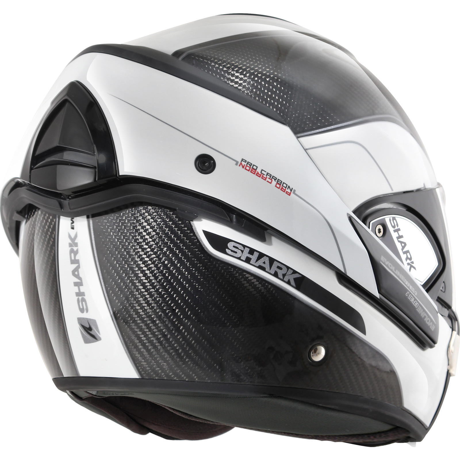 45106102 Sentinel HE9900EDWAXS - Shark Evoline Pro Carbon Flip Front Motorcycle  Helmet XS Carbon Red Anthracite (DWA