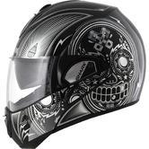 Shark Evoline S3 Mezcal Chrome Flip Front Motorcycle Helmet S Black Chrome Black