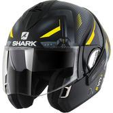 Shark Evoline S3 Shazer Mat Flip Front Motorcycle Helmet M Matt Black Yellow Silver