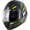 Shark Evoline S3 Shazer Mat Flip Front Motorcycle Helmet M Matt Black Yellow Silver Thumbnail 2
