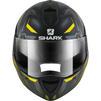Shark Evoline S3 Shazer Mat Flip Front Motorcycle Helmet M Matt Black Yellow Silver Thumbnail 3