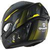 Shark Evoline S3 Shazer Mat Flip Front Motorcycle Helmet M Matt Black Yellow Silver Thumbnail 4