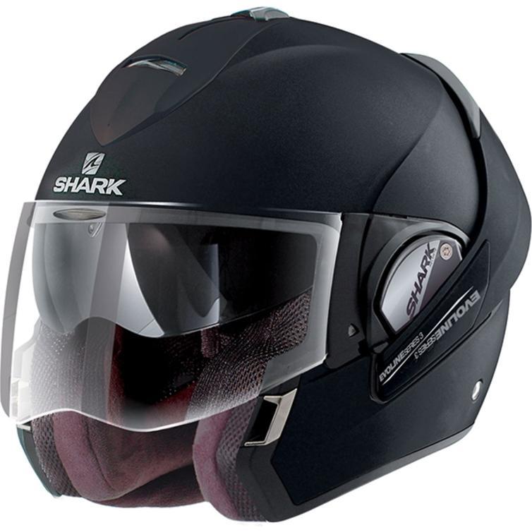 Shark Evoline S3 Uni Mat Flip Front Motorcycle Helmet XL Matt Black
