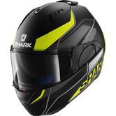 Shark Evo-One Krono Mat Flip Front Motorcycle Helmet L Matt Black Yellow White
