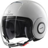 Shark Micro Blank Open Face Motorcycle Helmet L White