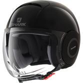 Shark Micro Blank Open Face Motorcycle Helmet XS Black