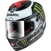 Shark Race-R Pro Lorenzo Monster Mat Motorcycle Helmet XS Matt White Black Red