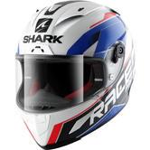 Shark Race-R Pro Sauer Motorcycle Helmet XS White Blue Red