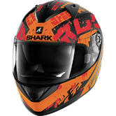 Shark Ridill Kengal Mat Motorcycle Helmet XS Matt Black Orange Red