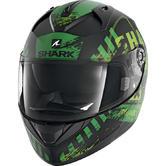 Shark Ridill Skyd Motorcycle Helmet XS Black Green