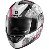 Shark Ridill Spring Motorcycle Helmet M White Black Pink