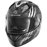 Shark Ridill Threezy Mat Motorcycle Helmet L Matt Black White Anthracite
