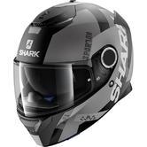 Shark Spartan Apics Mat Motorcycle Helmet XS Matt Black Silver Anthracite