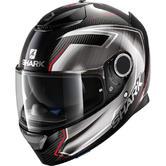 Shark Spartan Carbon Guintoli Motorcycle Helmet M Carbon Chrome Red